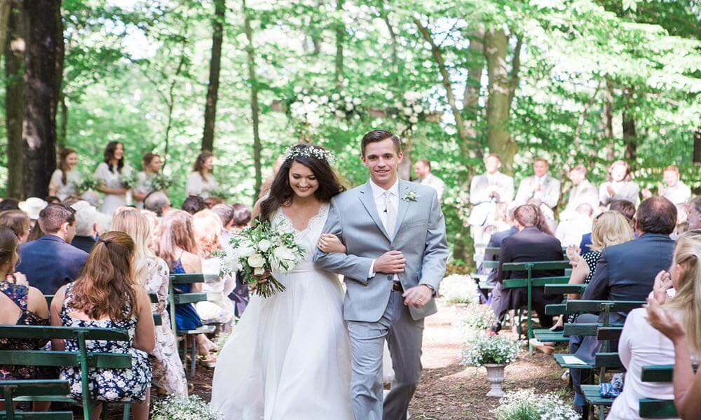 Outdoor weddings in Bucks County, PA