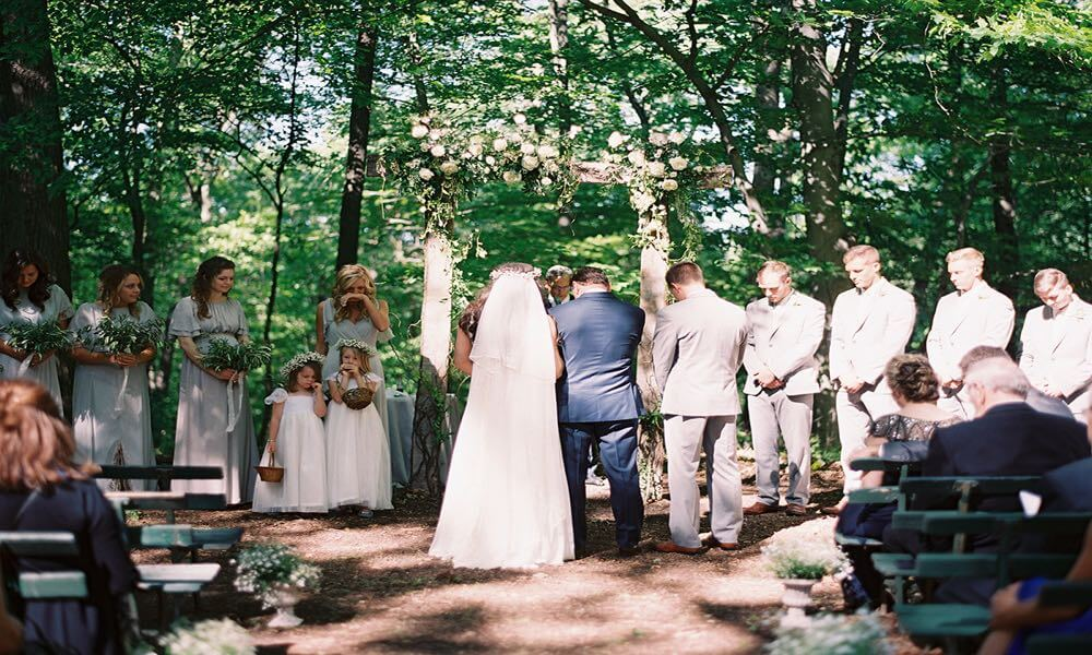 Natural wedding in New Hope, PA